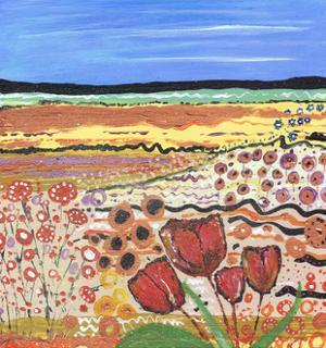 Tulips in a Field by Caroline Duncan