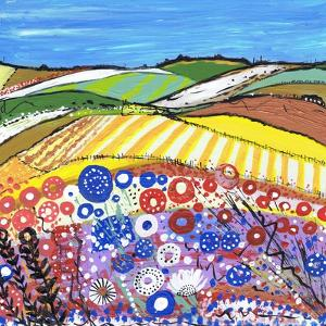 Wheatfields in Scotland by Caroline Duncan
