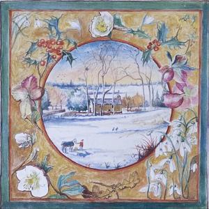 Christmas Morning, Little Somborne, 2007 by Caroline Hervey-Bathurst