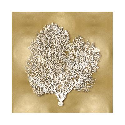 Sea Fan on Gold II by Caroline Kelly