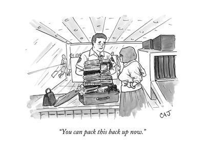 """""""You can pack this back up now."""" - New Yorker Cartoon"""