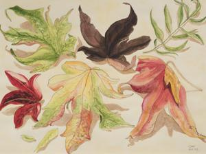 Autumn Leaves, 1993 by Carolyn Hubbard-Ford