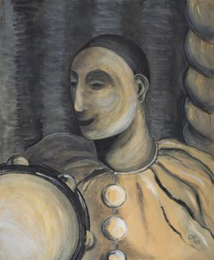 Clown with Tambourine, 1995 by Carolyn Hubbard-Ford