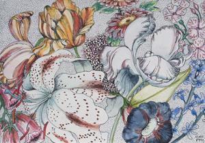 Jumbled Flowers, 1991 by Carolyn Hubbard-Ford