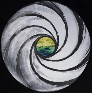 Lense Swirl with Sea and Clouds, 2005 by Carolyn Hubbard-Ford