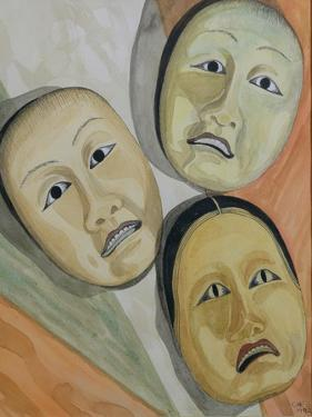 Oriental Masks by Carolyn Hubbard-Ford