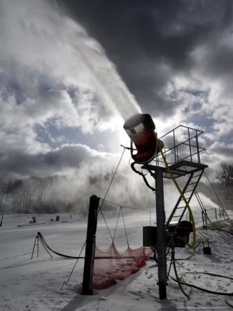 Snow is Made at Ski Roundtop in Lewisberry, Pennsylvania, December 8, 2006