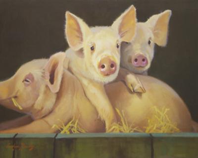 Life as a Pig III by Carolyne Hawley