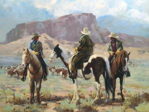 Three Cowboys by Carolyne Hawley