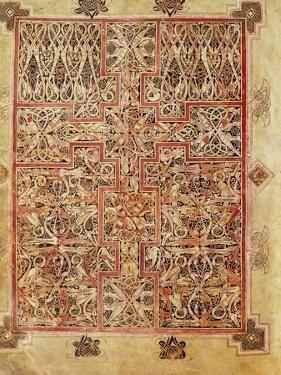 Carpet Page, Cross Filled with Bird Interlace, circa 730