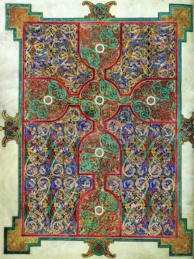 Carpet Page from the Lindisfarne Gospels, Around 698-700, Design in the Shape of a Cross