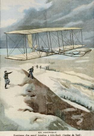 Orville and Wilbur Wright Make the First Successful Powered Flight at Kitty Hawk North Carolina