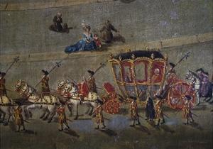 Carriage in St Peter's Square in Rome, Italy, 18th Century