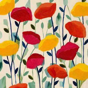 Cheerful Poppies by Carrie Schmitt