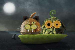 Owl and Cat by Carrie Webster
