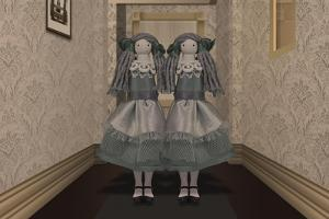 Twins in the Hallway by Carrie Webster