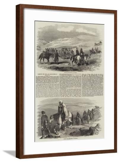 Carrying the Sick and Frost-Bitten to Balaclava--Framed Giclee Print