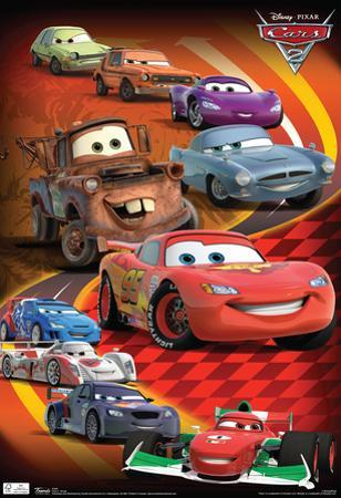 Cars 2 Group Movie Poster