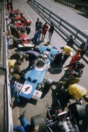 Cars at the British Grand Prix, Silverstone, Northamptonshire, 1969