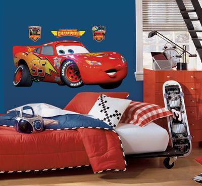 Cars - Lightening McQueen Peel & Stick Giant Wall Decal