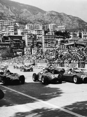 Cars on the Starting Grid, Monaco, 1950S