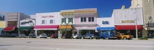 Cars Parked in Front of Stores, Beach Street, Daytona Beach, Florida, USA