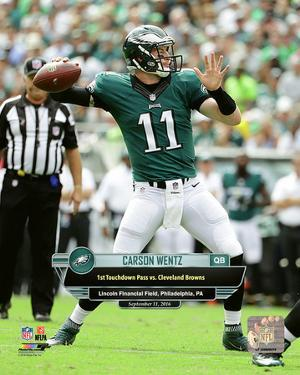 Carson Wentz First Career Touchdown Pass- September 11, 2016 with Overlay Vertical