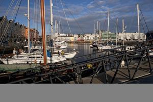 Galway Marina, Galway Docks, County Galway, Connacht, Republic of Ireland, Europe by Carsten Krieger