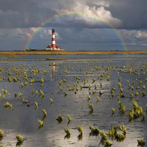 Lighthouse Meets Rainbow by Carsten Meyerdierks
