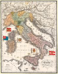 Map Of Italy In Italian.Affordable Maps Of Italy Posters For Sale At Allposters Com