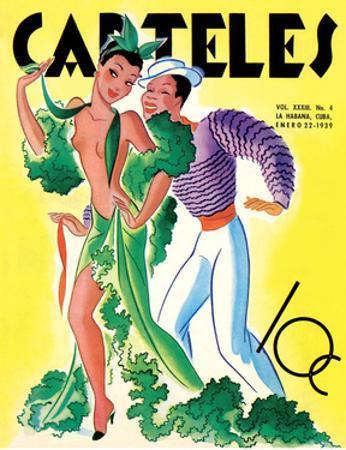 Carteles, Retro Cuban Magazine, Dancing Senorita