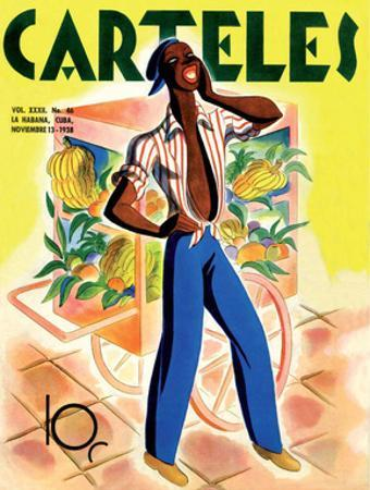 Carteles, Retro Cuban Magazine, Fruit Seller