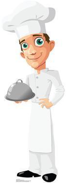 Cartoon Chef Lifesize Standup