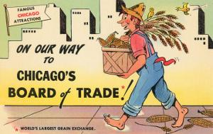 Cartoon of Chicago Board of Trade, Chicago, Illinois