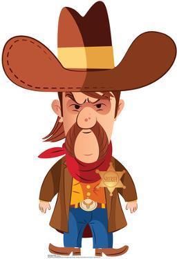 Cartoon Sheriff Lifesize Standup