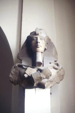 Carved Head of King Akhenaten, Ancient Egyptian, 18th Dynasty, C1353-C1334 Bc