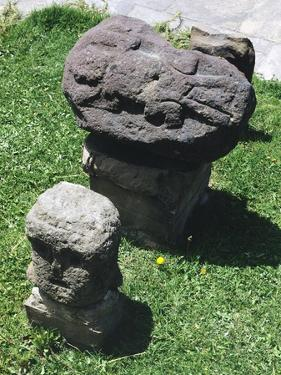 Carved Stones Showing Figures of Iguanas, in Tiahuanacu or Tiwanaku