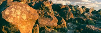 Carvings on Rocks at Petroglyph National Monument, Albuquerque, New Mexico, USA