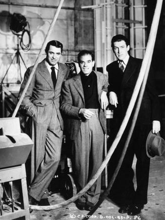 """Cary Grant, Frank Capra, James Stewart. """"The Philadelphia Story"""" 1940, Directed by George Cukor"""