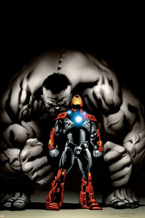 Ultimate Human No.4 Cover: Iron Man and Hulk