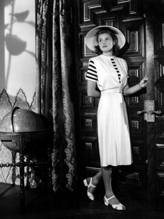 Casablanca, Ingrid Bergman Wearing a Jumper Dress Designed by Orry-Kelly, 1942