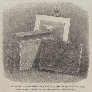 Case of Photographic Views in Canada Presented to the Prince of Wales by the Canadian Government