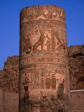 Remains of the Temple of Kom Ombo, Egypt by Casey Mahaney