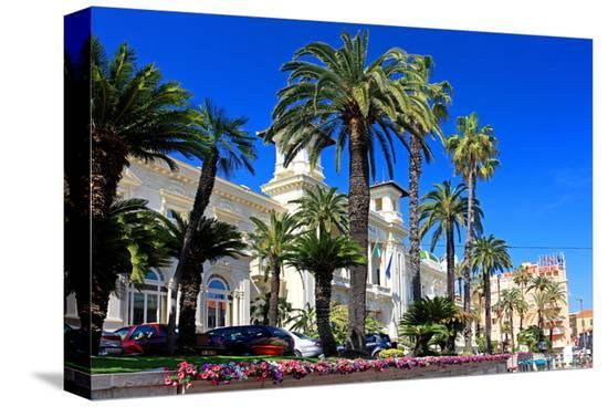 Casino in San Remo, Province of Imperia, Liguria, Italy--Stretched Canvas Print