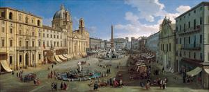 The Piazza Navona in Rome, 1699 by Caspar Adriaensz van Wittel