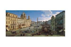 The Piazza Navona in Rome, 1699 by Caspar Adriaensz van Wittel