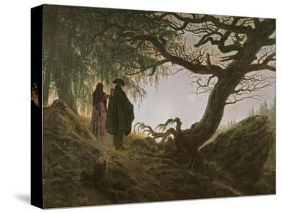 A Man and Woman Contemplating Moon by Caspar David Friedrich