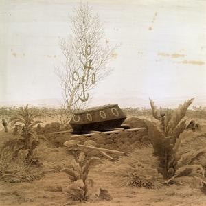 At the Edge of the Grave, 1830S by Caspar David Friedrich