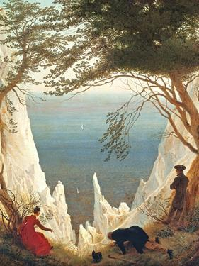 Chalk Cliffs on Rugen, C.1818 by Caspar David Friedrich