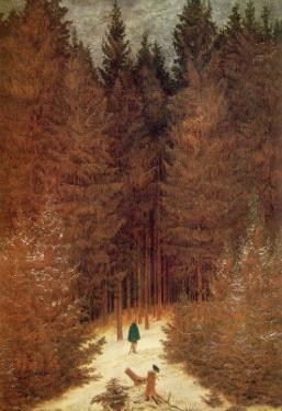 Chasseur in the Forest by Caspar David Friedrich